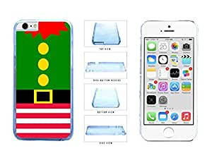 Cute Christmas Elf Suit Clear Plastic Phone Case Back Cover Apple iPhone 6 (4.7 Inches)