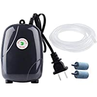 Ultra Silent High Out Energy Efficient Aquarium Air Pump Fish Tank Oxygen AirPump With 2 Air stone/2M Silicone Tube Pump
