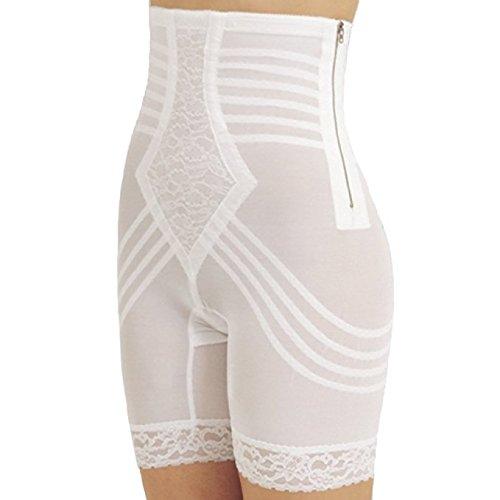 Rago Shapewear High-Waist Long Leg Pantie Girdle Style 6201 (3X, White) High Waist Pantie Girdle