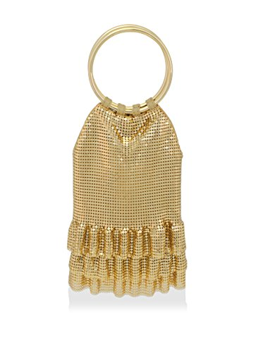 Gold Ruffles Mesh Evening Bag amp; Whiting Davis Metal qn00Bg