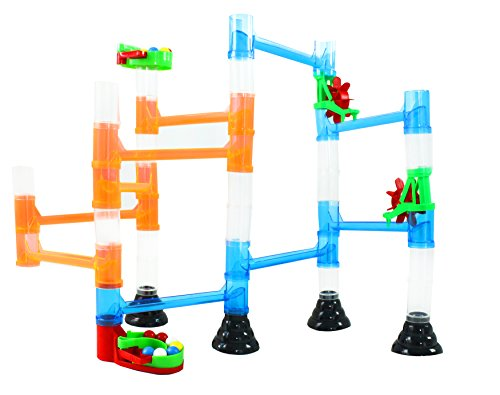 Marble Quercetti (International Playthings Quercetti Transparent Marble Run - 45 Piece Basic Building Set - Classic Construction Toy Perfect for Beginners Ages 4 and Up (Made in Italy))