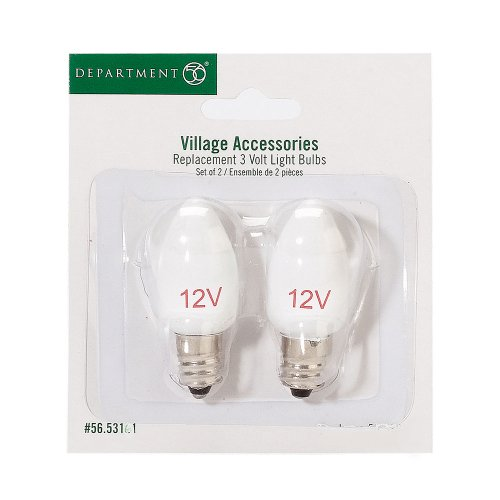 Department 56 Accessories for Department 56 Village Collections Replacement 12-Volt Light Bulb