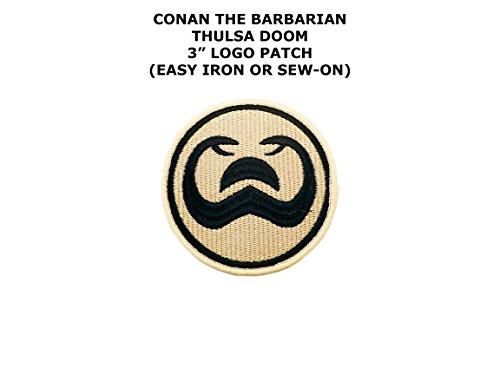 Conan Barbarian The Costumes (Conan The Barbarian Sci-Fi Embroidered Iron/Sew-on Comics Theme Logo)