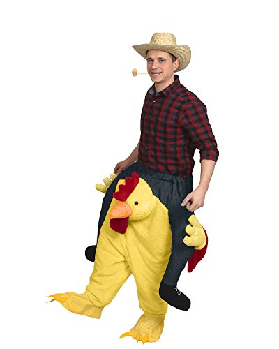 Piggyback Carry Me Ride On A Chicken Farm Animal Adult Rooster Costume -