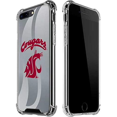 Skinit Washington State Cougars iPhone 7/8 Plus Clear Case - Officially Licensed Washington State University Phone Case - Slim, Lightweight, Transparent iPhone 7/8 Plus ()