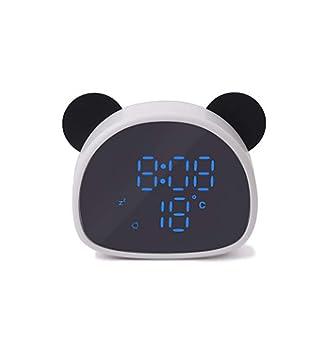 Xifande Creative Led Espejo Reloj De Alarma Digital De Dibujos Animados De Grabación Panda Electrónica Decoración del Dormitorio En Casa Reloj De 6 ...