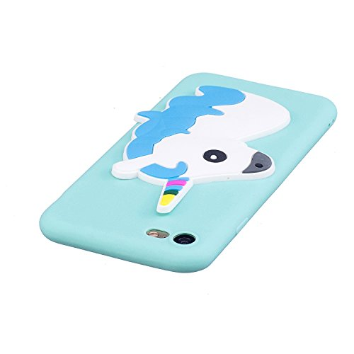 iPhone 7 / 8 Coque Case , Mode 3D Licorne Ultra-mince Soft Poids Léger Silicone Doux TPU Étanche Aux Chocs Housse Gel Etui Case Cover pour Apple iPhone 7 / 8