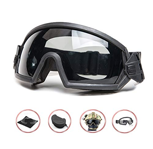 Supspy Airsoft Goggles Eye Protection Paintball (Black)