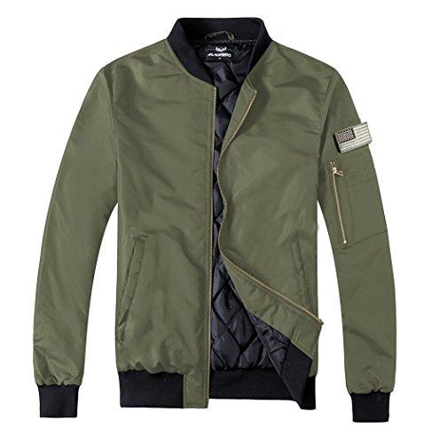men s flight bomber jacket slim fit