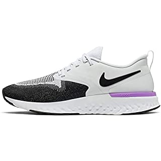 Nike Odyssey React 2 Flyknit Men's Running Shoe, 10.5 US, Pure Platinum/Black/White/Hyper