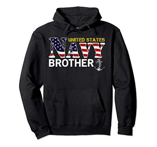 United States Flag American Navy Brother Hoodie Veteran Gift