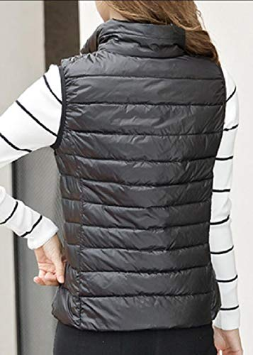 Coat Jacket with security Vest Outdoor Black Hooded Puffer Packable Lightweight Women's Pocket qq1T8