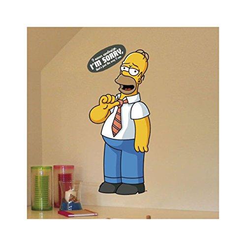Decorazione muro MAXI Adesivo removibile Simpson cm 69x32 40164 bambini camerette