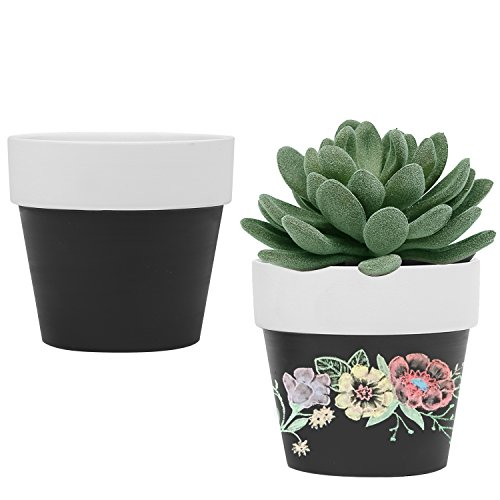 3-inch-small-ceramic-chalkboard-succulent-plant-pots-flower-vase-set-of-2-black-white
