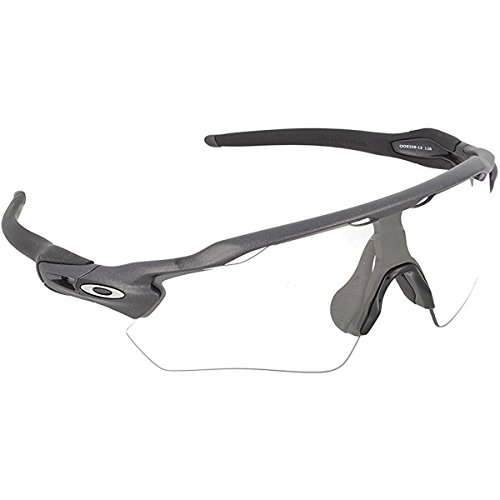 Oakley Men's Radar EV Path OO9208-13 Non-Polarized Iridium Shield Sunglasses, Steel, 138 - Radar Oakley Clear