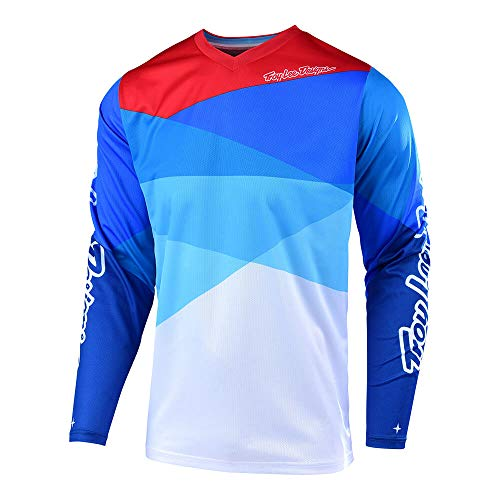 Troy Lee Designs Adult |Offroad|Motocross| GP Air Jersey Jet (X-Large, White/Blue)
