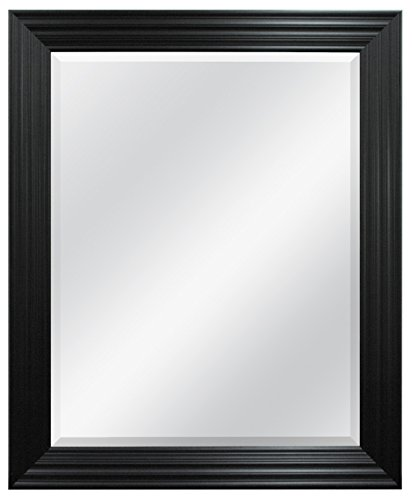 MCS Ridged Wall Mirror, 28 by 34-Inch, Brushed - Mirrors With Black Bathroom Guest