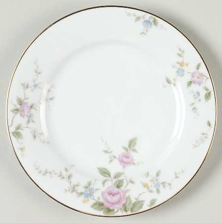 Noritake China FIRENZE Bread & Butter Plate - pink roses - 6674