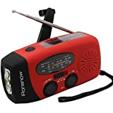 iRonsnow Dynamo Emergency Solar Hand Crank Self Powered AM/FM NOAA Weather Radio LED Flashlight Smart Phone Charger Power Bank with Cables