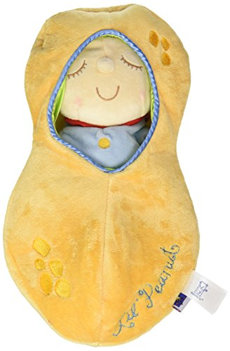 Classic Toy Dolls Stuffed Toys - Manhattan Toy Snuggle Pod Lil' Peanut First Baby Doll with Cozy Sleep Sack for Ages 6 Months and Up