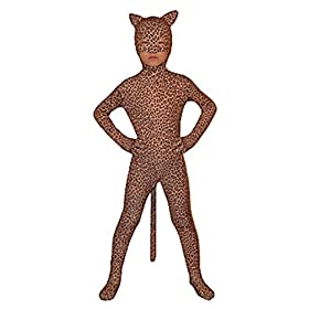 - 41fpeEtR7wL - Seeksmile Child Open Eyes Open Nose and Mouth Lycra Leopard Animal Zentai