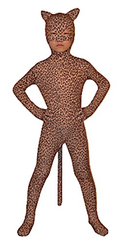 Seeksmile Child Open Eyes Open Nose and Mouth Lycra Leopard Animal Zentai (Kids Small, Leopard) -