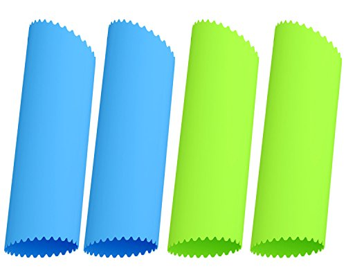 Silicone Garlic Peeler - Acerich 4 Pcs Silicone Garlic Roller Peeling Tube Easy Useful Kitchen Tools (Blue & - Tube Silicone