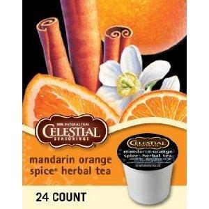 MANDARIN ORANGE SPICE HERBAL TEA K CUP 120 COUNT by Celestial Seasonings