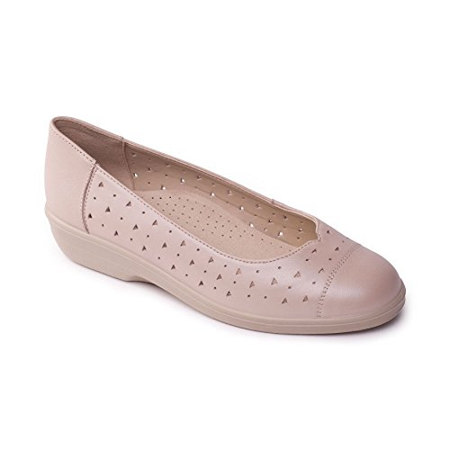 Ee Extra In Scarpa Padders Libera Larga Taupe Extra Talpa Footcare Uk 'faye' In Free Shoe Ee Forma Fit Donne 'faye' Shoe Pelle Wide Padders Horn Footcare Uk Women's Calzante Leather Delle xYq80awOZ