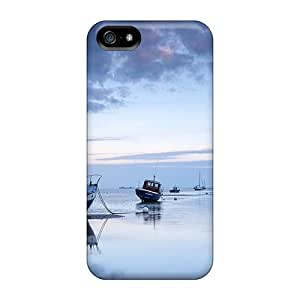 New Premium Zru14096Lqir Case Cover For Iphone 5/5s/ The Fishing Fleet On The Beach At Low Tide Protective Case Cover