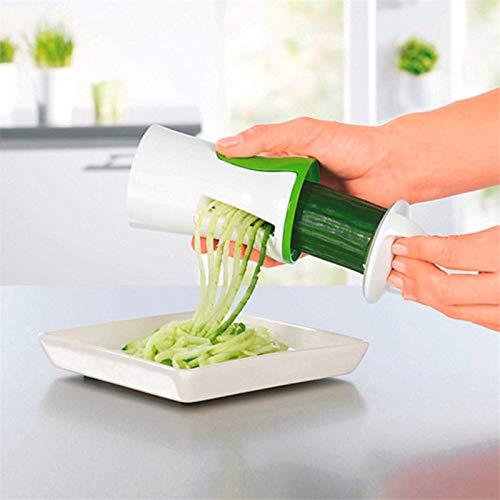Vistaric 2016 New Vegetable Spiralizer Safety 2-Blade Design Carrot Cucumber Grater Slicer Kitchen Tool