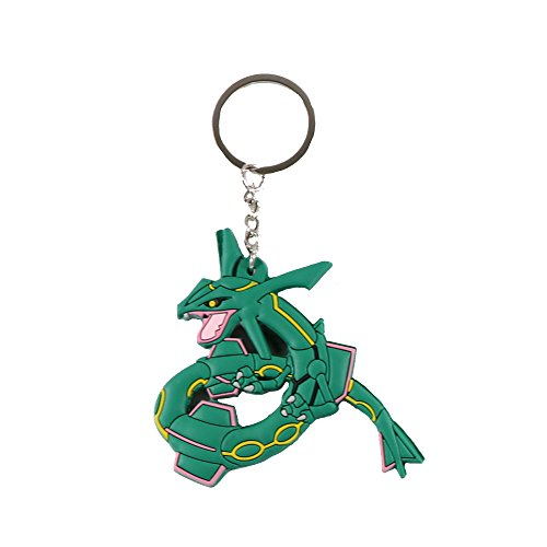 Coolinko Pokemon Rubber Keychain Large Double Sided 3 Inches (Rayquaza)