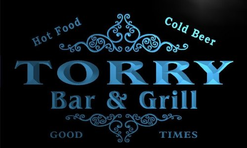 u45353-b TORRY Family Name Bar & Grill Home Decor Neon Light - Torry B