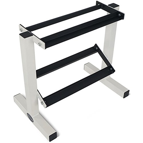2 Tier Dumbbell Rack Stand for Workout Weights Personal Gym WOD by Eight24hours