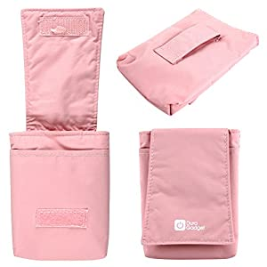 DURAGADGET Alcatel One Touch Smartphone Case - Soft Padded Slide-In Velcro Smartphone Pouch / Sleeve in Pretty Pink with Belt Loop for Alcatel One Touch Idol Mini, Alcatel OneTouch POP Icon, Alcatel OneTouch Evolve 2, Alcatel One Touch Fierce, Alcatel One Touch Pop C5, Alcatel OneTouch IDOL 3 (4.7), Alcatel OneTouch POP Astro & Alcatel One Touch Pop C7