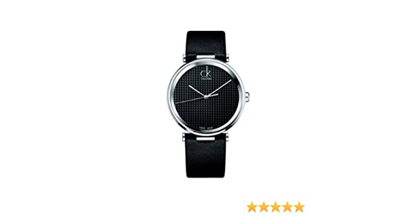 Amazon.com: Ck Calvin Klein Gents Watch K1s21102 Black Leather Black Dial: Watches