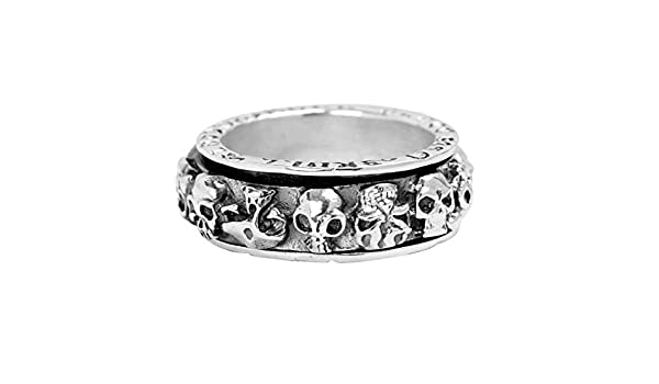 Bishilin Rings for Men Silver Plated High Polished Chain Partner Rings Silver Size 8.5