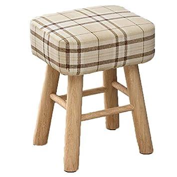 Small wooden bench Taburete de Banco pequeño y ...