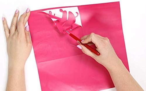 WDragon - Rollo de vinilo adhesivo holográfico permanente para manualidades con diseño de ópalo brillante, 30 x 30 cm, 3 hojas, para herramientas Silhouette Cameo Cricut y más oro rosa: Amazon.es: Hogar