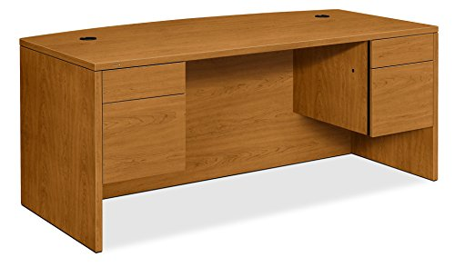 HON Bow Top Double Pedestal Desk, 72 by 36 by 29-1/2-Inch, -