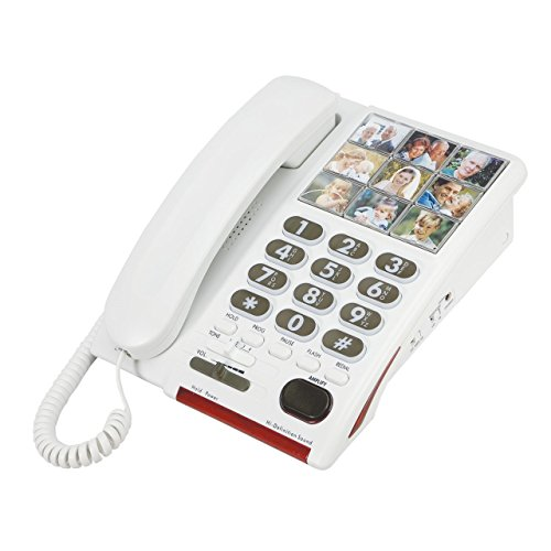 - Serene 26dB Amplified Photo Dial Speakerphone for Hearing-Memory Loss