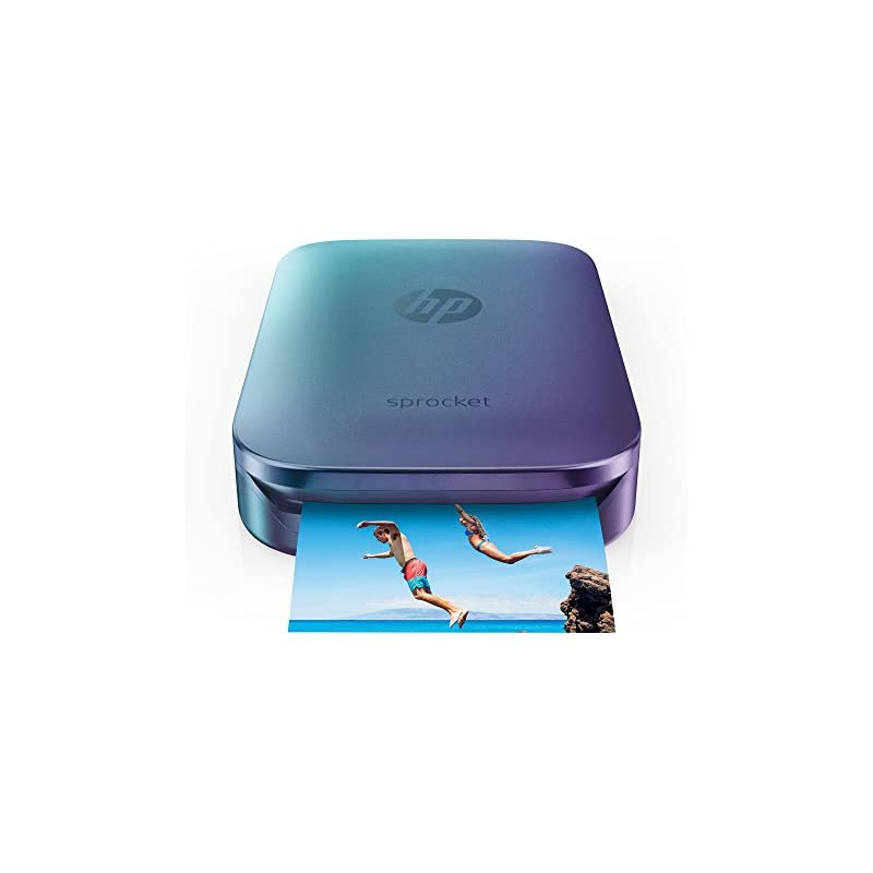 HP Blue Sprocket Portable Photo Printer,