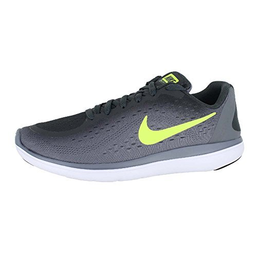 NIKE Kids Flex 2017 RN (GS) Anth Volt-Cool Grey Black Size 6 by NIKE