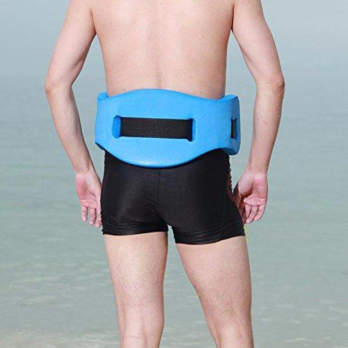 Workouty Back Floating Swim Belt EVA Foam Swimming Training Aid Waist Adult Kids Pool Float Kickboard (Blue)