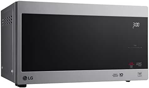 LG LMC0975AST .9 Cu Ft Counter Top Microwave Oven with Inverter, LED Lamp, EasyClean, Glass touch and Stable Ring, Stainless Steel