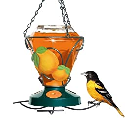 Perky-Pet 750 Deluxe Hand Painted Oriole Feeder, 24-Ounce Capacity