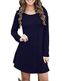 YMING Womens Pullover Sweater Dress Long Sleeve Fall Tunics for Leggings