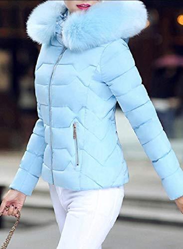 Parka Fashion Coat Women's Blue Down Puffer Overcoat Hooded Jacket EKU UXqEw