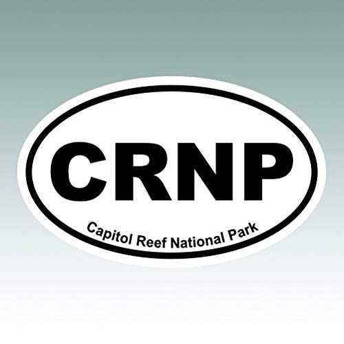 (Capitol Reef National Park Oval Sticker - Die Cut - Decal - Euro CRNP - Size: 5.00