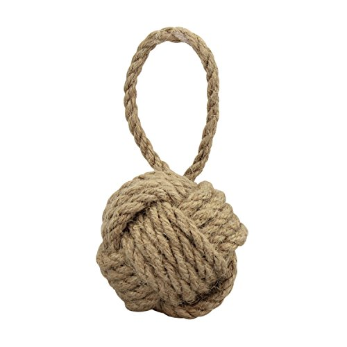 Stonebriar Natural Nautical Rope Knot Decorative Filler, Coastal Wall Decor Accent Piece, Fill for Vases, Bowls, Glass Cylinders, and Trays, Small